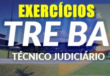 Curso TRE BA - EXERCÍCIOS CESPE  - Técnico Judiciário Área Administrativa