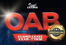 OAB/RJ- Exames XXXII e XXXIII- 1ª Fase- Premium (172 horas de exercícios + curso OAB Online ) - 18:30 às 21:45- 2ª à 6ª (Podendo ter dias livres na semana e podendo incluir sáb. e/ou dom.)- Cód: 02417