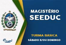 Magistério SEEDUC- Turma Básica (42h)- Sáb/Dom(Podendo ter sábados e/ou domingos livres)-  8h às 17h     Cód: 02433