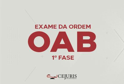 OAB- 1ª Fase - XXXIV Exame - Gold - Noite- 18:30 às 21:45 -  2ª à 6ª
