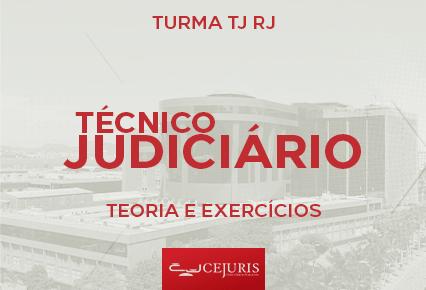 Turma TJ RJ Online - Técnico Judiciário  - TEORIA E EXERCÍCIOS (Gravações em Sala) - PÓS EDITAL