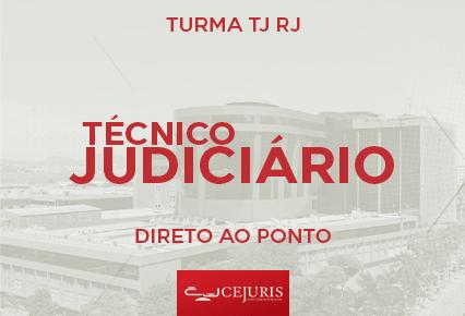 Turma Online TJ RJ - DIRETO AO PONTO - Técnico Judiciário