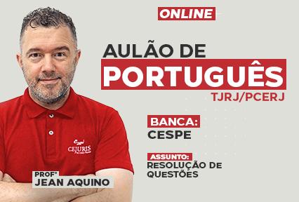 Aulão - Português  - Resolução de Questões - CESPE - Online - 2021