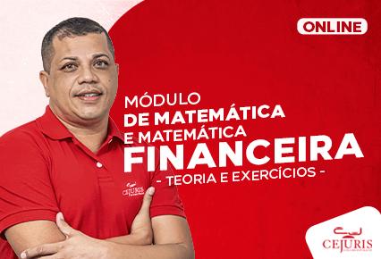 Módulo de matemática e matemática Financeira -  Professor Marcelo Jardim